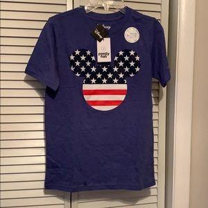 Disney patriotic boys t shirt